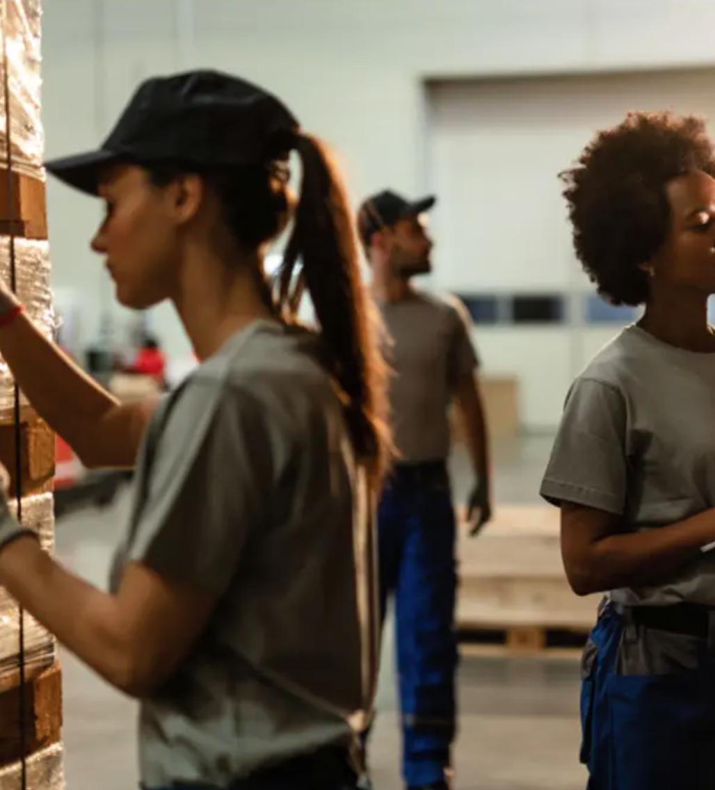 female warehouse employees